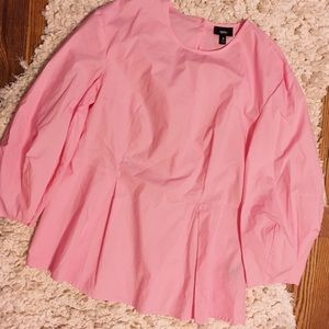 Tops - Pink puff sleeve blouse size S